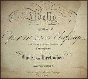 Sampul partitur »Fidelio« satu2nja opera Beethoven