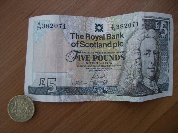 Lembaran 5 Scottish Pound