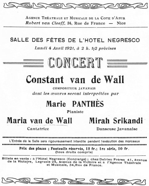 Affiche concert hotel Negresco