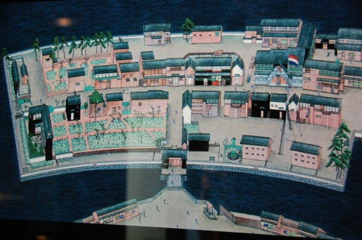 Maket Pulau Dejima pada zaman VOC