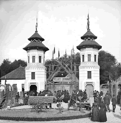 Gate to the village javanais