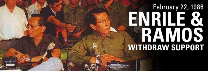 Enrile-Ramos membelot