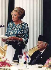 Ratu Beatrix berpidato pada kundjungan kenegaraan Djakarta 1995
