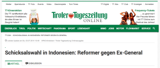 Berita harian Tiroler Tageszeitung terbitan Innsbruck