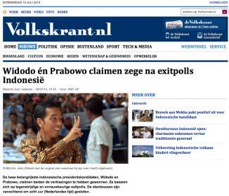Berita harian de Volkskrant terbitan Amsterdam