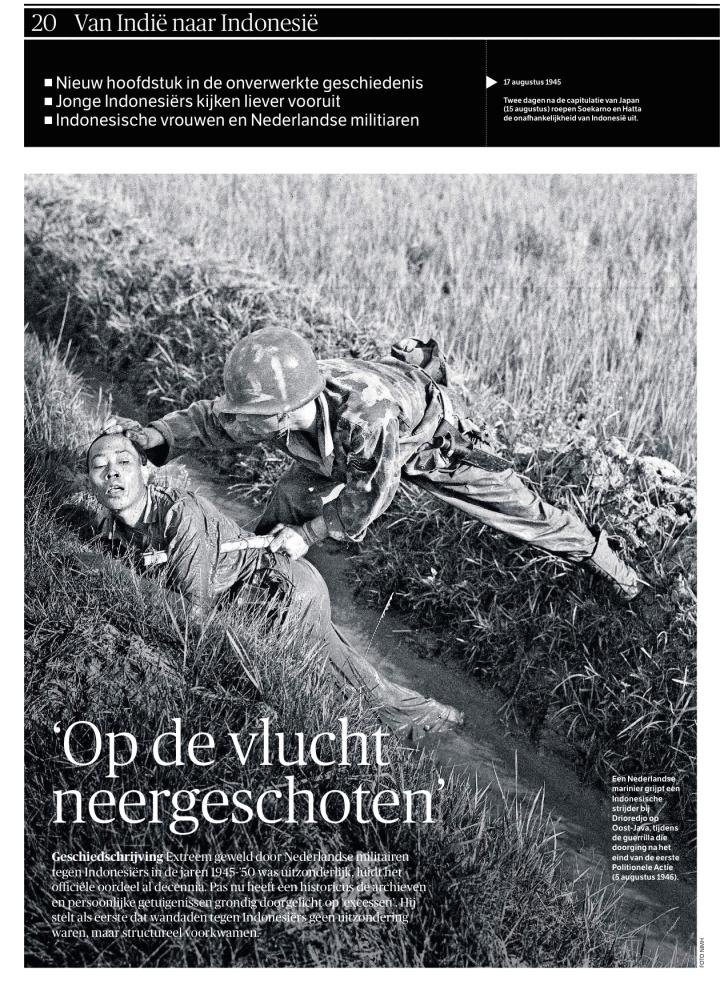 Halaman depan laporan chusus NRC Handelsblad tentang kemerdekaan Indonesia