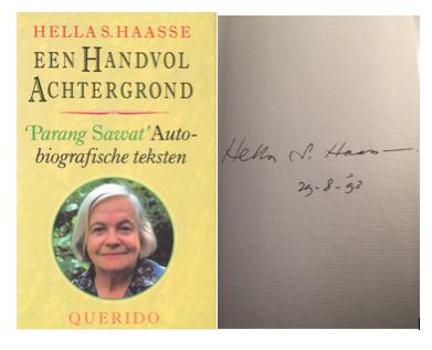 Parang Sawat dan tanda tangan Hella Hasse