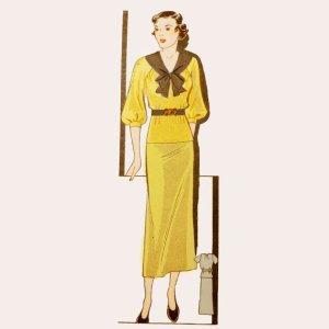 Raglan blouse 1930an