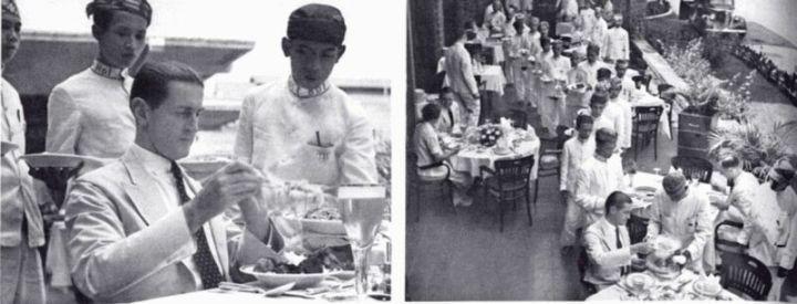 Suasanan Hôtel des Indes tatkala menghidangken rijsttafel
