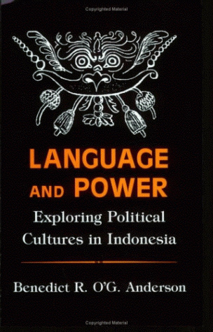 "Sampul depan ""Language and Power"""