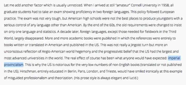 "Ben Anderson mengenalkan konsep ""imperial provincialism"""
