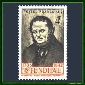 Stendhal sebagai prangko Prantjis