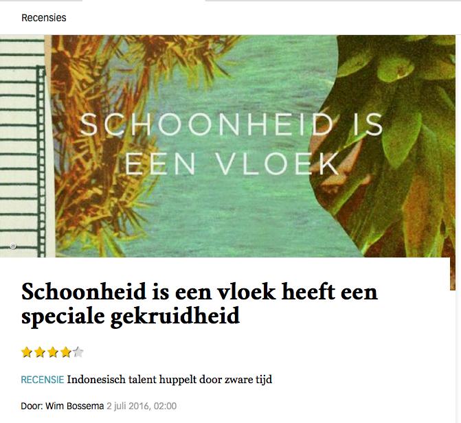 Tampang resensi ini di situs harian de Volkskrant