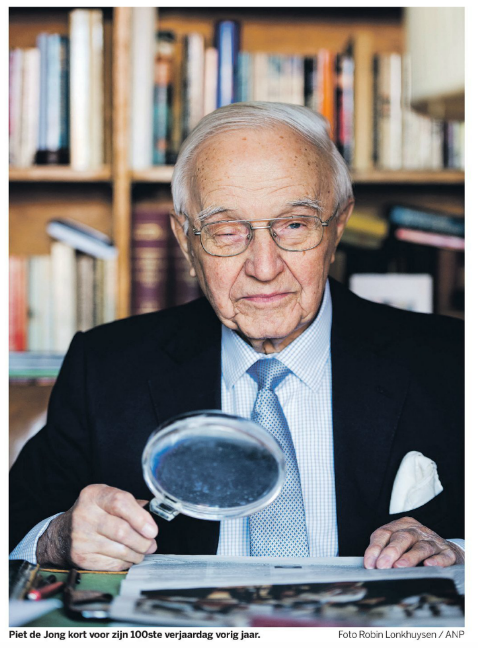 Piet de Jong ketika mentjapai 100 tahun pada 2015