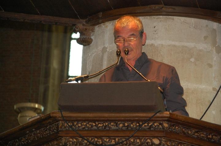 Ernst Jansz saat tampil sebagai 'spreker'