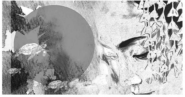 """Ilustrasi """"Kura2 sungai Kamo"""" ketika nongol di Suara Merdeka"""