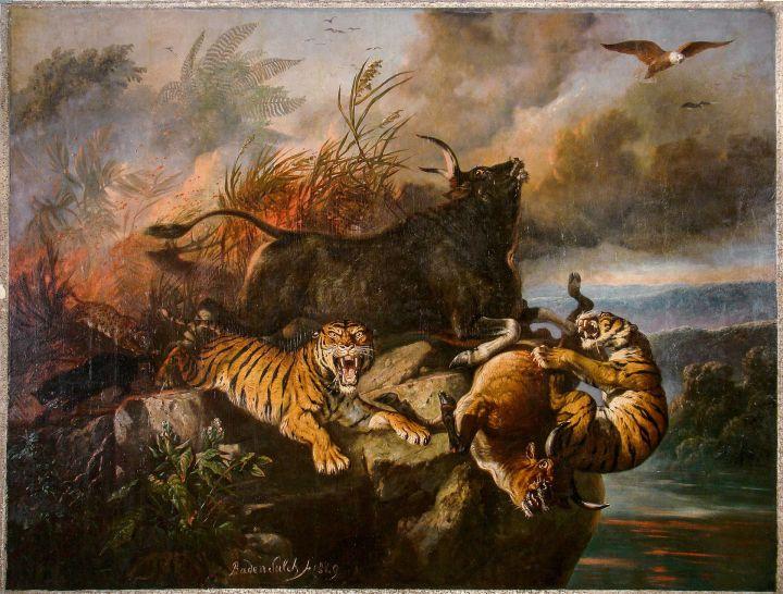 »Boschbrand« alias »Kebakaran hutan« karja Raden Saleh