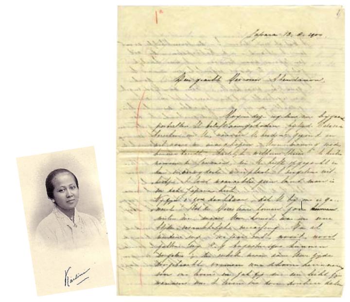 Kartini dan salah satu suratnja kepada tuan dan njonja Abendanon