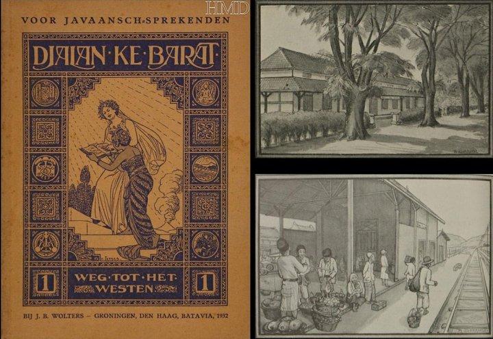 Buku peladjaran bahasa Belanda untuk orang Djawa (sumber http://www.deventer-bokhorstkunst.nl/albums/illustraties-arnold/content/illistratie-arnold-bokhorst-23/)