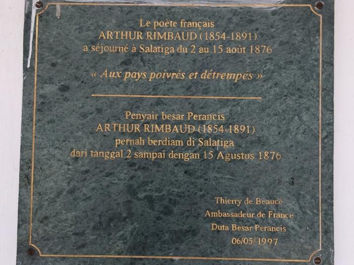 Plakat mengenang Arthur Rimbaud di Salatiga