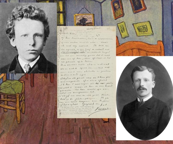 Vincet dan Theo van Gogh mengapi seputjuk surat Vincent