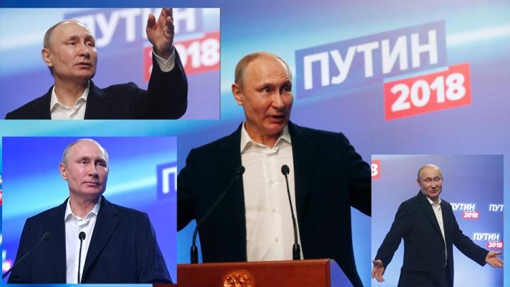 Putin ketika berkampanje maret 2018