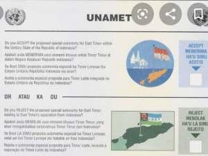 Stembiljet referendum Oost-Timor